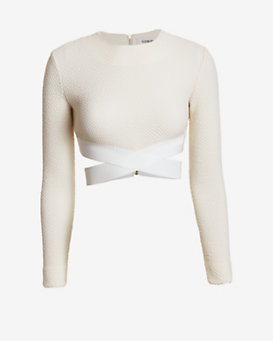 Elizabeth and James Sedonna Criss Cross Crop Top