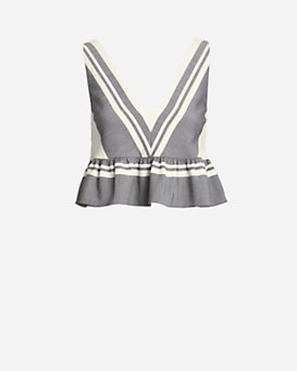 Elizabeth and James Analinne Striped Ruffle Top