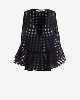 Elizabeth and James EXCLUSIVE Chester Organza Top