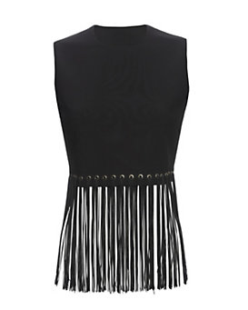 Elizabeth and James Piers Fringe Sleeveless Top