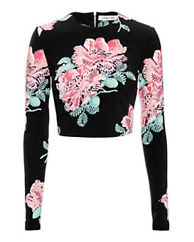 Elizabeth and James Polly Floral Print Crop Top
