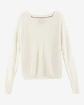 Brochu Walker Seamed V Neck Sweater