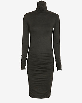 Twenty EXCLUSIVE Ruched Turtleneck Dress