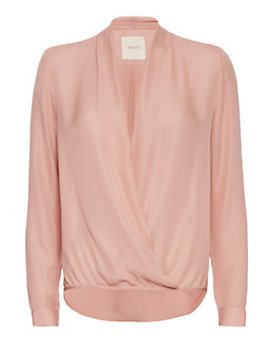 mason by michelle mason Wrap Blouse: Blush