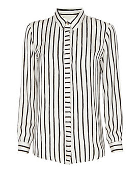 mason by michelle mason Mixed Stripe Blouse