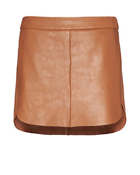 mason by michelle mason EXCLUSIVE Zipper Detail Leather Mini Skirt