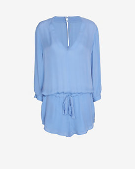mason by michelle mason V Neck Silk Romper