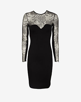 mason by michelle mason Lace Detail Dress