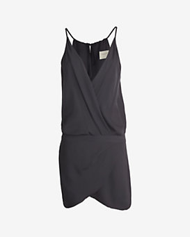 mason by michelle mason Cami Wrap Mini Dress