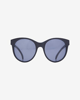 Illesteva Mademoiselle Enlarged Circular Sunglasses: Black