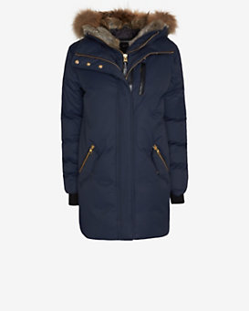 Mackage Marla Fur Hood Winter Down Parka: Navy