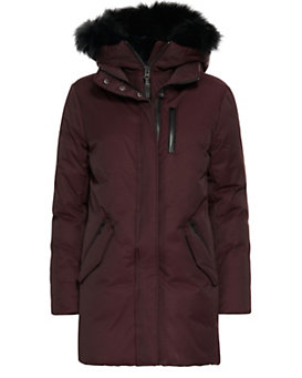 Mackage Marla Fur Trim Down Parka: Bordeaux