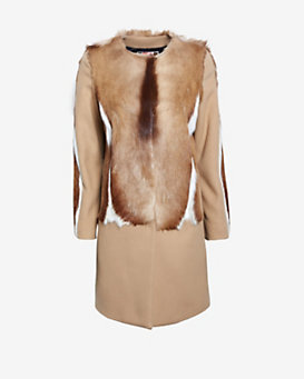 MSGM Gazelle Fur Coat
