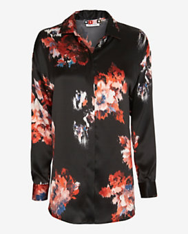 MSGM Floral Printed Blouse
