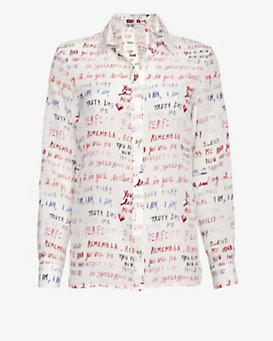 MSGM Love Quotes Blouse