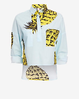 MSGM Pineapple Print Tunic Shirt