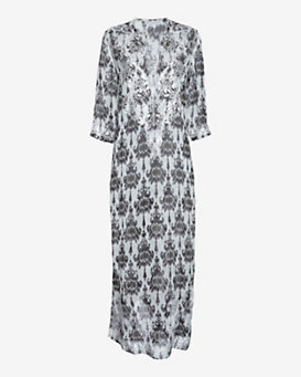 Marie France Van Damme Silk Printed Embroidery Kurta