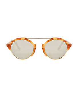 Illesteva Milan III Amber Mirrored Sunglasses