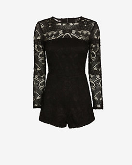 Alexis Exclusive Montreil Open-Back Lace Romper