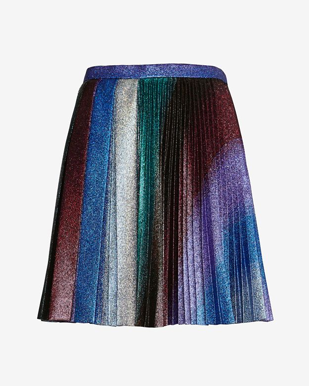 Marco De Vincenzo Multi Color Pleated Skirt
