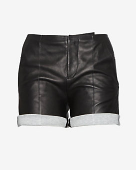 MM6 by maison martin margiela Leather Shorts