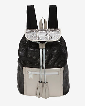 Meredith Wendell EXCLUSIVE Mixed Media Backpack