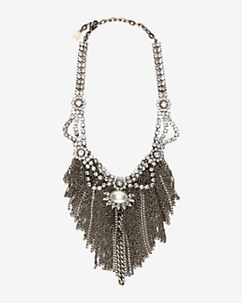 Dannijo Large Fringe Bib Necklace
