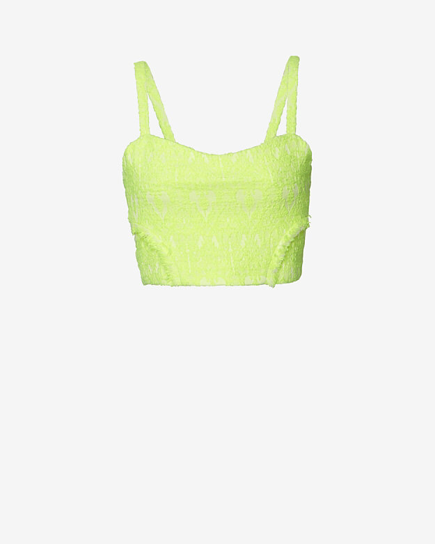 Alexis Sleeveless Bustier Crop Top