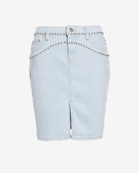 IRO Naomi Studded Denim Mini Skirt