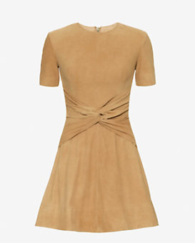 LOVER Lando Front Knot Suede Dress