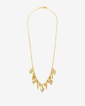 Chan Luu Crystal Spike Short Necklace