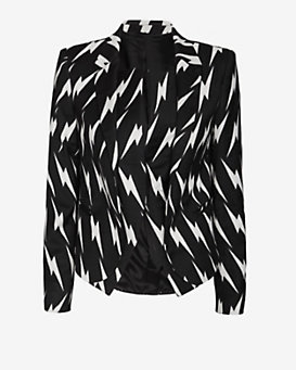 Neil Barrett Lightning Bolt Print Tux Jacket