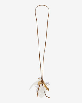 Chan Luu Mixed Pendant Charm Braided Necklace