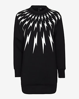 Neil Barrett Thunder Bolt Print Sweatshirt