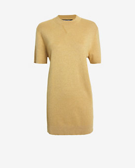 Neil Barrett Gold Lurex Knit Dress