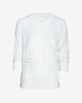 IRO Deconstructed Sweatshirt: White