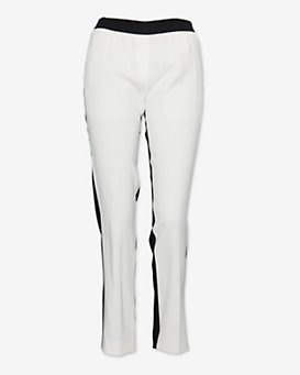Neil Barrett Colorblock Silk Pant: Black/White