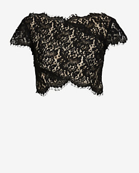 LOVER Vee Vee Lace Splice Crop Top