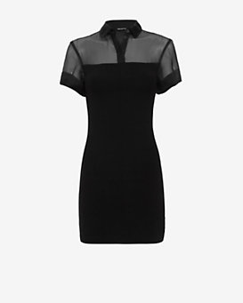 Neil Barrett Sheer Yoke Dress