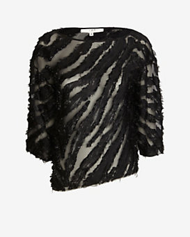 IRO Frayed Burn Out Blouse