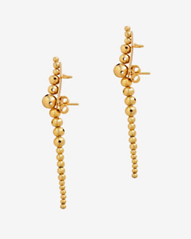 Paula Mendoza Roma Long Beaded Coil Earcuff Earrings