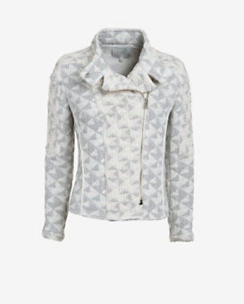 IRO Otavia Diamond Patchwork Jacket: Grey