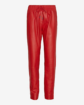 Ohne Titel Leather Track Pant: Red
