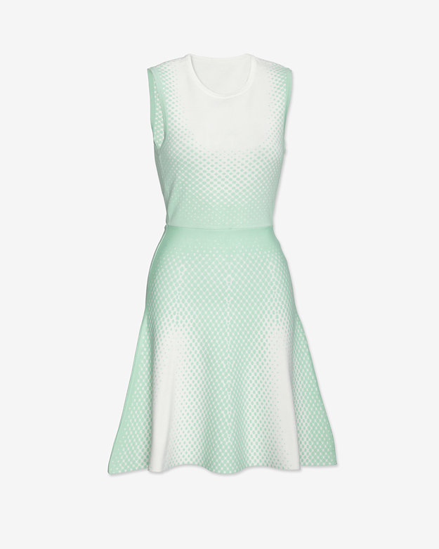 Ohne Titel Jacquard Dot Flare Dress: Mint
