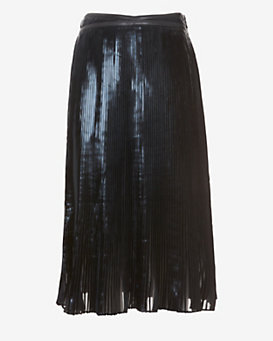 Ohne Titel EXCLUSIVE Pleated Foil Below The Knee Skirt