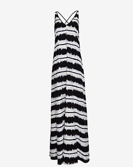 10 Crosby Derek Lam EXCLUSIVE Criss Crossed Strap Ink Maxi Dress