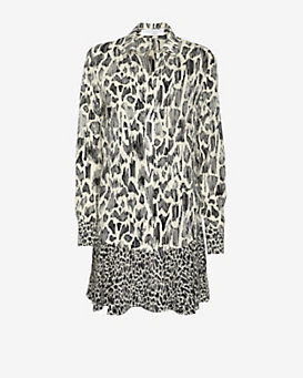 10 Crosby Derek Lam EXCLUSIVE Plisse Animal Print Shirtdress