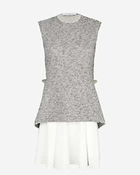Derek Lam 10 Crosby 2 in 1 Flare Skirt Dress