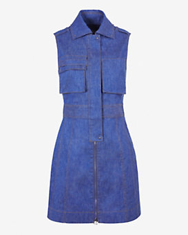 Derek Lam 10 Crosby EXCLUSIVE Military Zip Denim Dress