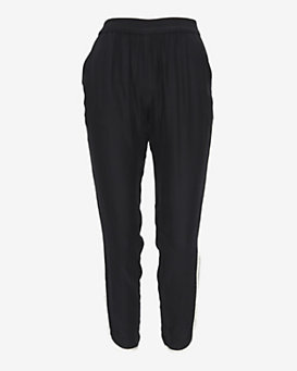 Parker Contrast Interlaced Ribbon Detail Silk Pant